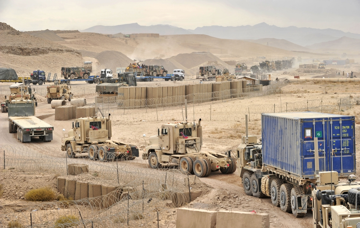 Structuring logistics for unstructured war